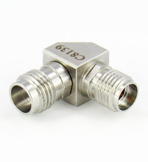 C8139 1.85mm Female to 2.92mm Female Right Angle Adapter Centric RF