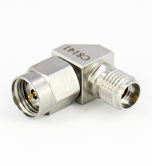 C8141 1.85mm Male to 2.92mm Female Right Angle Adapter Centric RF