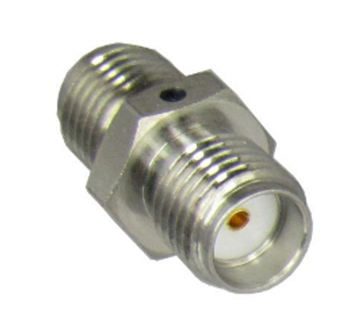 C3364 SMA Female to Female Adapter 18ghz VSWR 1.2 5/16 Hex S Steel
