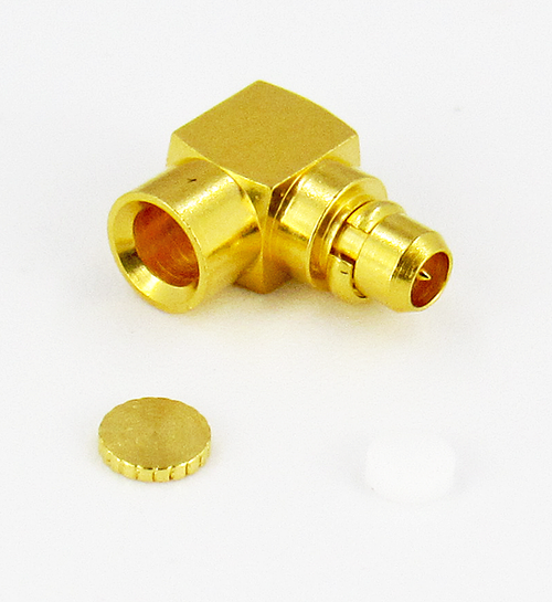 CX4815 MMCX/Male Right Angle Brass RG405 Connector Centric RF