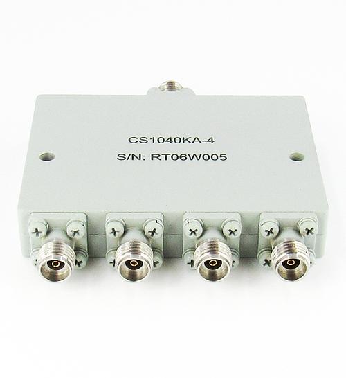 CS1040KA-4 2.92mm F's Power Divider 4-way 10-40Ghz VSWR 1.5 S Steel 10W