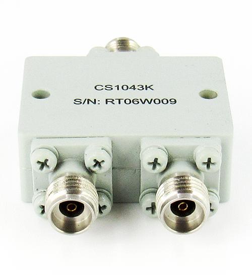 CS1043K 2.92mm Power Divider 2-way 10-43.3 Ghz VSWR 1.7 In VSWR 1.6 Out S Steel 10W