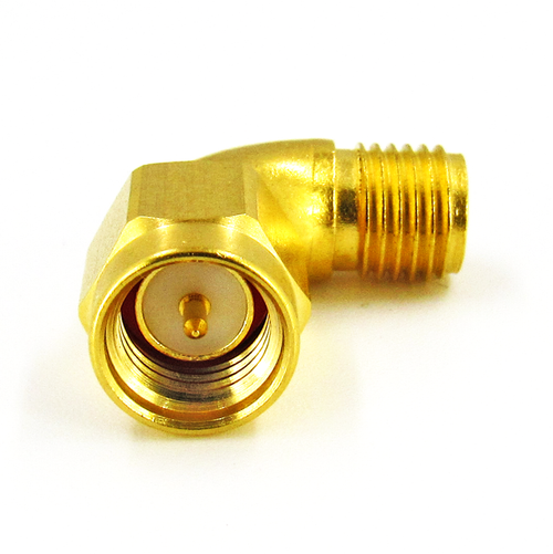 C3237 SMA M/F Swept Right Angle Adapter  18Ghz VSWR 1.2  S Steel/Au