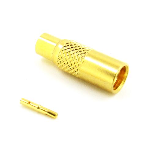 CX4817 MMCX Jack Connector RG405(.086) Brass Crimp Solder