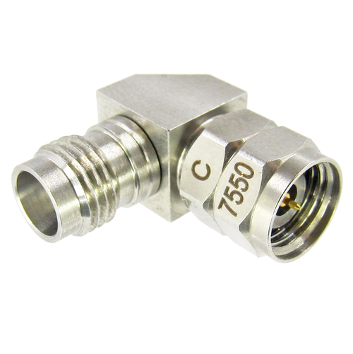 C7550 2.4mm Male to 2.4mm Female Right Angle Adapter VSWR 1.3 50Ghz
