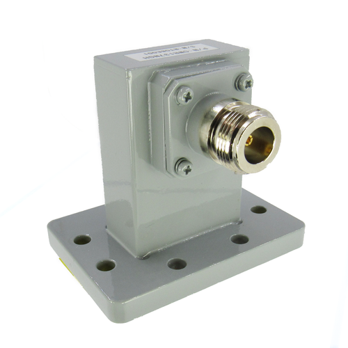 CWR137NGH WR137 to N WG to Coax 5.85-8.2 Ghz VSWR 1.25 Grooved FDM70 Flange