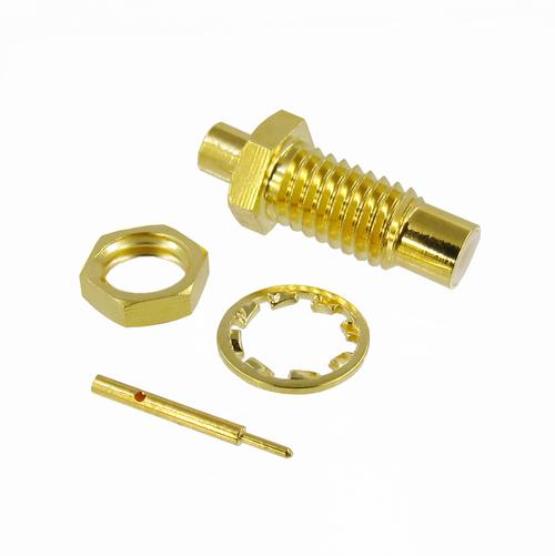 CX4838 SMC Jack Bulkhead Connector RG405(.086) Brass Crimp