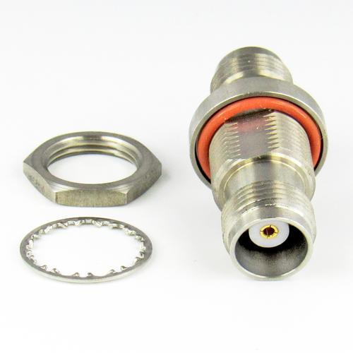 C2521 TNC Bulkhead Adapter 18Ghz Female to Female  VSWR 1.15 S Steel