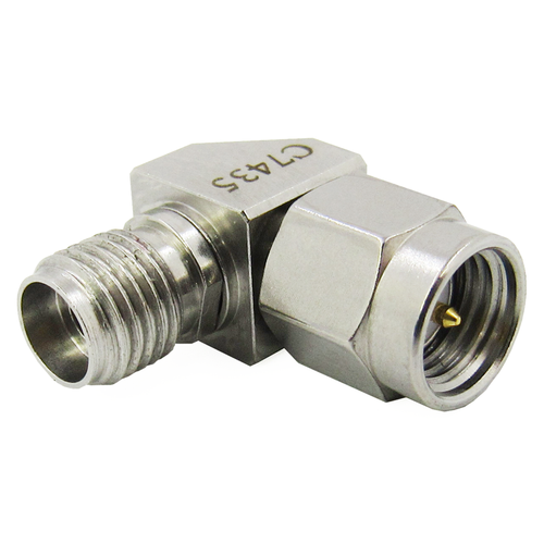 C7435 2.92mm Female SMA Male Right Angle Adapter VSWR 1.15 27Ghz