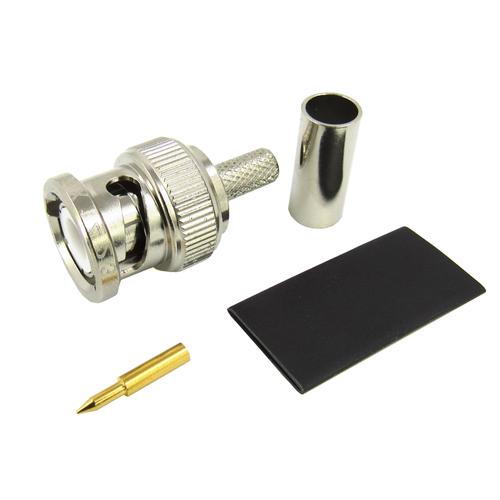 CX1423 BNC Male Connector for RG142 Crimp/Solder
