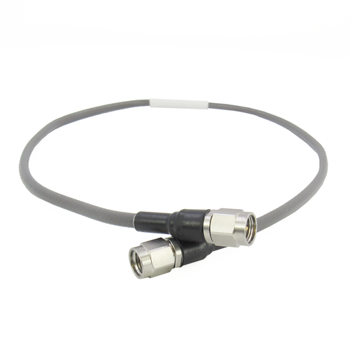 C548-110-18 Cable 2.92mm 40ghz VSWR 1.3 Max 18in Flexible Low Loss Phase Stable over Temp/Flex