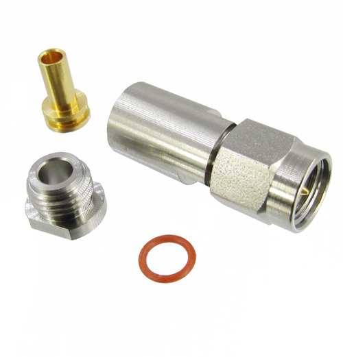 CX3586 3.5 Male Clamp/Solder Connector for 086 Cable 34 Ghz (CX3586)