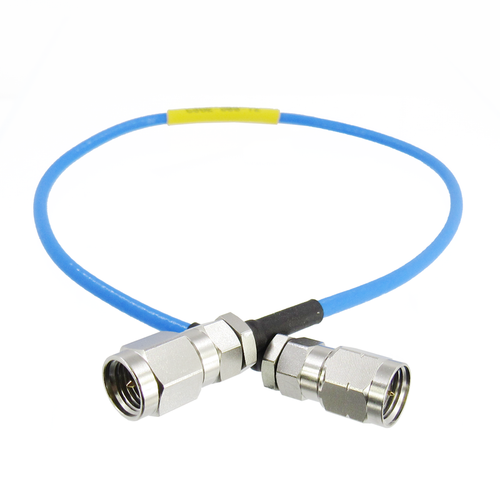 C502-086-XX 2.4mm Male to 2.92 mm Male Flexible Interconnect Cable 40Ghz VSWR 1.35
