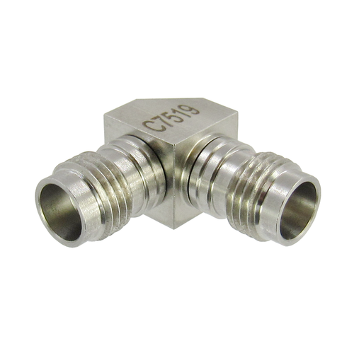 C7519 2.4mm Female to 2.4mm Female Right Angle Adapter VSWR 1.3 50Ghz