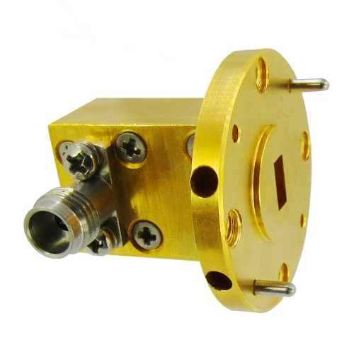 CWR2224C WR22 to 2.4mm Waveguide to Coax Adapter 33-50Ghz VSWR 1.4 10W