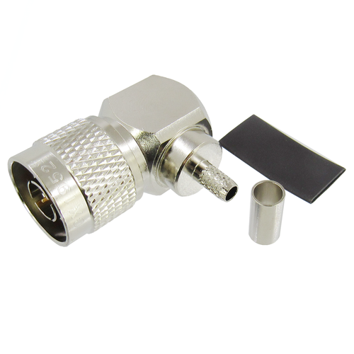 CX1952 N Male Right Angle Connector LMR195 Solder Crimp Brass