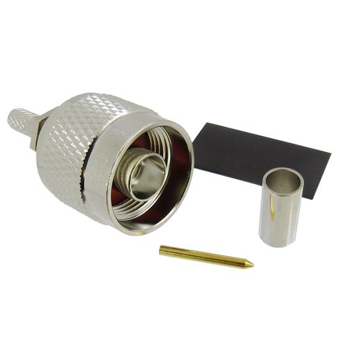 CX1954 N Male Connector LMR195 Solder Crimp Brass