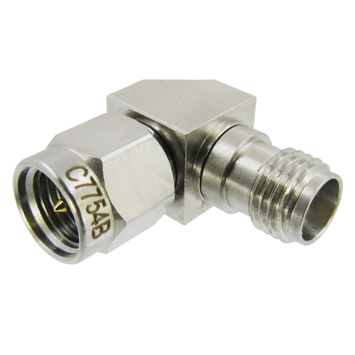 C7754B 3.5mm to 3.5mm Right Angle Adapter M/F 33Ghz VSWR 1.15