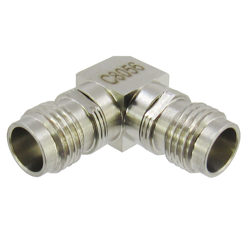 C8056 1.85mm Right Angle Adapter Female to Female VSWR 1.35 67Ghz