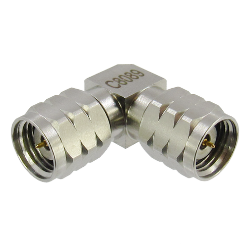 C8089 1.85mm Right Angle Adapter Male to Male VSWR 1.35 Max 0-67Ghz