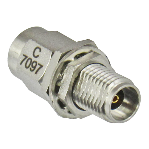 C7097 2.92/Male to 2.92/Female Bulkhead Coaxial Adapter Centric RF