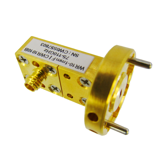 CWR1010B WR10 to 1.0mm Waveguide to Coax Adapter 75-110Ghz VSWR 1.4