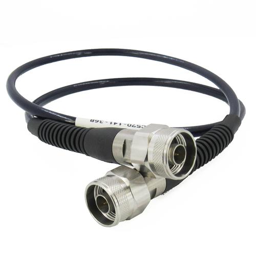 "C570-141-36B N Test Cable Super-Flexible 18ghz VSWR 1.3 Pur Jacket 36"""