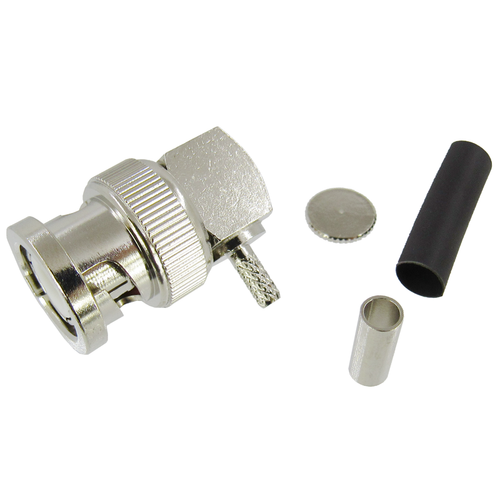 CX3203 BNC Male Right Angle Connector RG316DS Brass