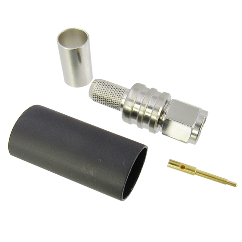TC-240-SM-SS-X Connector Times SMA Male Solder/Crimp for LMR 240