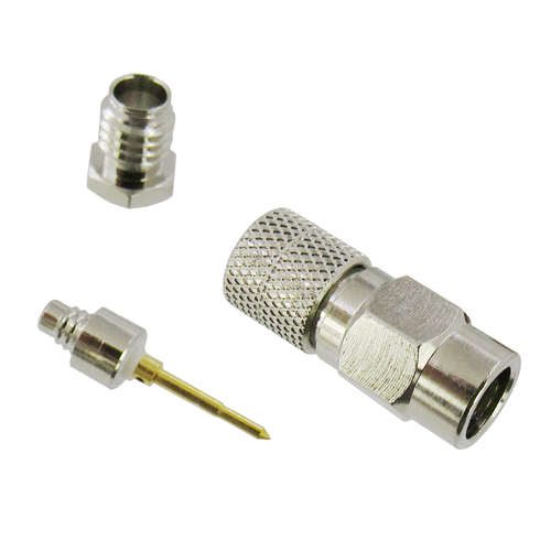 CX10326 10-32 Male Right Angle Clamp Connector for RG316 & RG174