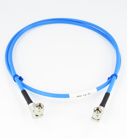 C586-141-12 SMA/Male Right Angle to SMA/Male Right Angle Test 12 inch Cable Centric RF