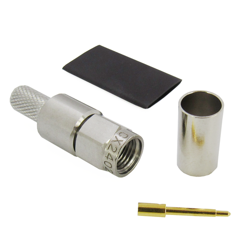 CX2402 SMA Male Solder/Crimp Connector for LMR240 Stainless Steel