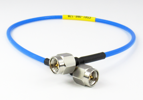 """C581-086-48B SMA 18Ghz  Flexible 086 Cable 48""""  VSWR 1.2 S Steel SMA"""