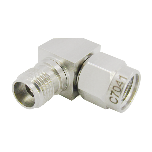 C7041 2.92mm Right Angle Adapter Male to Female VSWR 1.15 40Ghz