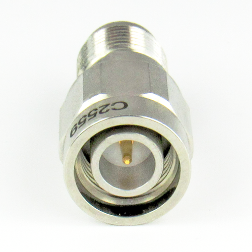 C2559  TNC Adapter 18Ghz Male to Female  VSWR 1.15 Pass S Steel