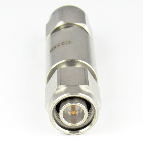 C2580 TNC Adapter 18Ghz Male to Male  VSWR 1.2 Stainless Steel