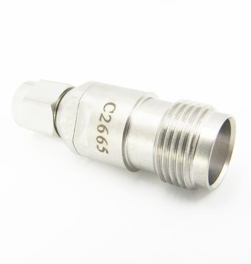 C2665 SMA Male to TNC Female Adapter 18Ghz VSWR 1.25 S Steel