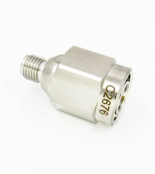 C2676 SMA Female to TNC Male Adapter 18Ghz VSWR 1.25 S Steel