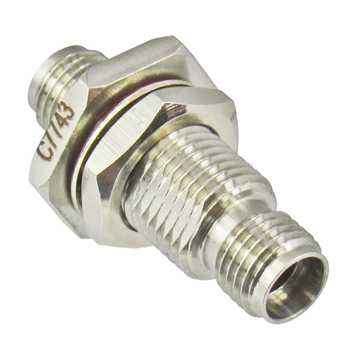 C7743 3.5/Female to 3.5/Female Bulkhead Coaxial Adapter Centric RF