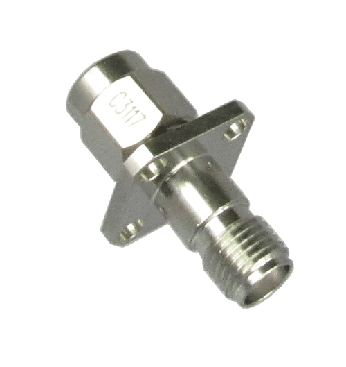 C3117 SMA/Male to SMA/Female Flange Adapter Centric RF