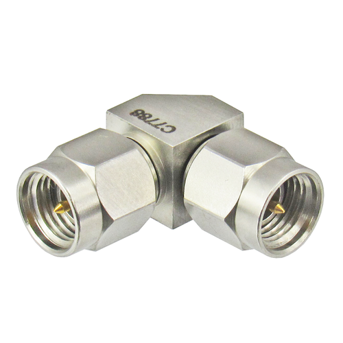 C7788 3.5/Male to 3.5/Male Right Angle Adapter Centric RF
