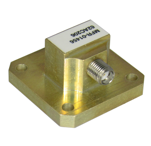 62AC206 WR62 to SMA/Female Waveguide to Coaxial Adapter