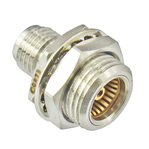 C9873 BMA/Jack to SMA/Female Bulkhead Adapter Centric RF