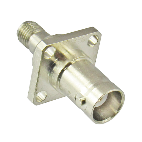 C2245 BNC/Female to SMA/Female Flange Adapter Centric RF