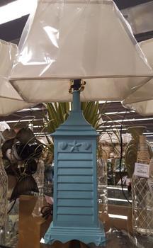 Set of 2 Blue Seashell Lamps
