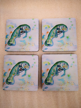 Betsy's Manatee Coasters - Set of 4