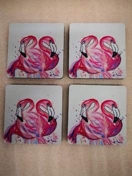 Flamingo I Coasters - Set of 4