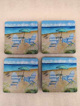 Adirondack Chairs Coasters - Set of 4
