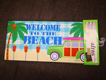 Beach Welcome Sassafrass Mat