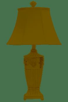 Set of 2 Cream Seaside lamps
